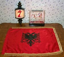 Seagrams 7 Lantern Bud Light Clydesdale Lighted Bar Beer Pub Signs Albanian Flag