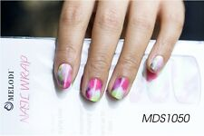 16 PZ Wild Flower Nail Patch Wrap per unghie Autoadesivo Adesivi Decalcomanie mds1050