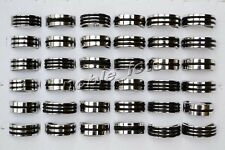 10pcs Mix Silver Black Stainless Steel Fashion Mens Rings Wholesale Lots