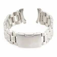 Replacement Strap Bracelet Watch 24mm Steel Metal Silver Color Fashion LW
