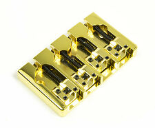 Hipshot A Style 4 String Bass Bridge Brass, Gold, Retrofits 5 Hole Fender