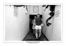 LAST EVER GAME BOBBY MOORE WEST HAM UNITED CAREER STATS A4 PRINT PHOTO ENGLAND