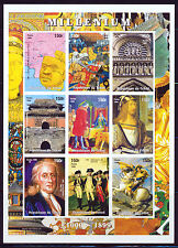 CHAD 1999 HISTORICAL ADVENTS 1000-1899 AD IMP SHT OF 9 DIFFERENT STAMPS SCT 806
