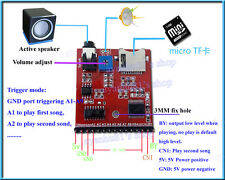 A MP3 Voice Module SD/TF Voice Broadcast Trigger Player + Speaker for MCU SCM