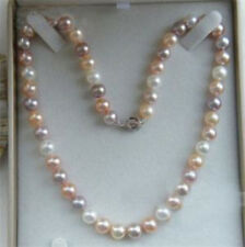 "Charming 18""Akoya AAA 7-8mm Multicolor Pearl Necklace"
