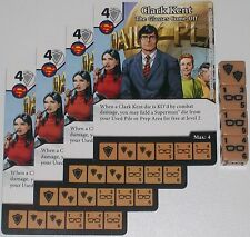 4 X CLARK KENT: THE GLASSES COME OFF 45 World's Finest DC Dice Masters