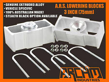"FORD FALCON AU/BA/BF/FG REAR 3"" INCH (75mm) LOWERING BLOCKS ALL MODELS"