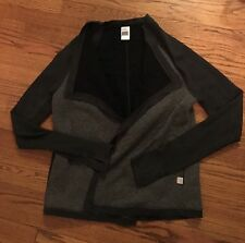 Victoria's Secret VSX Sport Quilted Fly Away Jacket Dark Gray Large