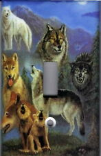 WOLVES - WOLVES HOME DECOR SINGLE LIGHT SWITCH PLATE COVER