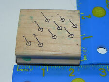 Azadi Earles rubber stamp - Raining Hearts Falling Hearts Lines dots (Valentine)