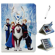 """Universal Disney Elsa Cartoon PU Leather Case Cover For Various 7-7.9"""" Tablet PC"""