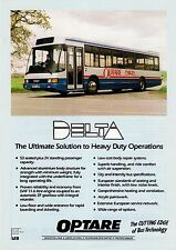 Bus Manufacturer Specification Sheet - Optare Delta: DAF SB220 Demo G837LWR 1991