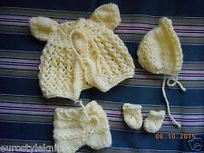 Doll Clothes Yellow Matinee set fit 10in to 12in Asthon Drake So Truly Real