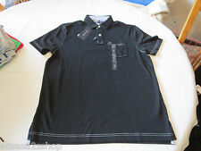 Men's Tommy Hilfiger Pocket Polo shirt  logo 7871395 Tommy Black L Classic Fit