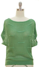 Women's Open Knit Relaxed Top size S-M Green New With Tags