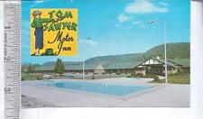 1950s used post card TOM SAWYER MOTOR INNS, ELMIRA, NY, ALBANY, NY Nash Metropl