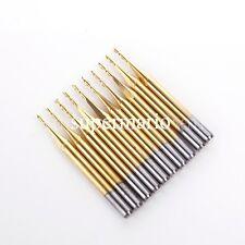 10x 1/8'' Titanium N2 Coated Carbide One Single Flute CNC Router Bit 1mm x4mm-au