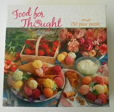 "CEACO Food for Thought 750 piece puzzle 24""X18"" 12+ Complete"