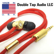 Double Tap R1 Durable Bullet Earbuds -Made in USA- Red