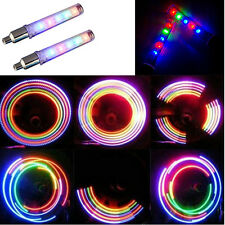 NEW 2 PCS Motor Bike Car Valve Caps Light Tyre Wheel Neon LED Lamp Batteries
