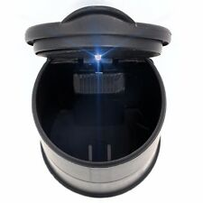 AUTO ACCESSORIES CAR Ashtray CUP Led Light Round Black Strong Retardant Plastic