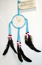 """3"""" hoop Dreamcatcher Authentic Native American Light Blue FREE SHIPPING #800"""