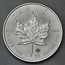 1 oz 999 Silber Silbermünze Kanada Maple Leaf 2016 5 CAD Royal Canadian Mint