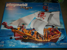 Playmobil Pirates Pirate Ship with 3 pirates firing cannons New sealed #5618