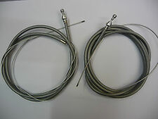 Racing Bike Pear Nipple Inner Brake Wire & Retro Outer Grey Casing Pair