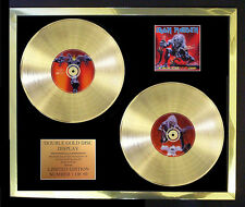 IRON MAIDEN A REAL LIVE DEAD ONE DOUBLE ALBUM CD GOLD DISC FREE POSTAGE!!