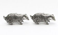 Badger Lovers Cufflinks in Fine English Pewter