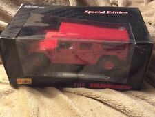 MAISTO SPECIAL EDITION HUMMER H-1 4 DOOR WAGON 1/18 RED DIE CAST
