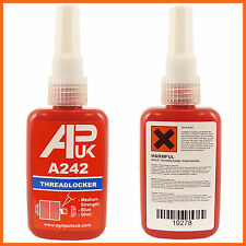 Nuevo Apuk una botella 50ml 242 como Loctite medio Locktite ThreadLocker Pegamento Henkel