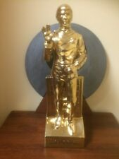 Rare Star Trek Gold Painted Mr. Spock Decanter 1979 Grenadier