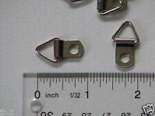 100 Triangle D-Ring Picture Frame Strap Hanger, Small, no screws