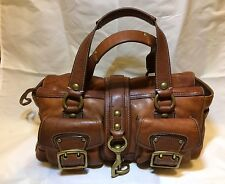 COACH Vintage WHISKEY Vachetta Legacy MANDY Leather Purse Handbag #10330