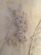 Diamanté Spray Flower Ivory Pearl Wedding Bridal Hair Comb Accessories