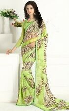 Stylist Multi Color Printed Chiffon Saree with a Blouse D.No SBT1230