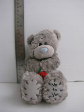 Me to you - Tatty Teddy Bear Plush Soft Toy Grey with red rose - 5""