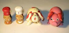 Small Wood Man and Woman & Dog and Pig Salt & Pepper Shaker Sets Occupied Japan