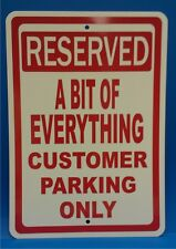 "Personalize this Custom Business Customer Parking 7"" X 10"" Plastic Sign RESSA040"