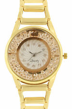 New stylish Diamond Crystals stone studded Gold watch for woman