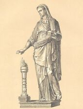 ANCIENT ROME COSTUME DRESS TOGA TUNIC PALLA ~ 3 Old 1882 Art Print Engravings