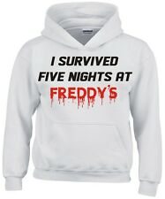 "FIVE NIGHTS AT FREDDY'S  ""I SURVIVED"" CHILDS HOODIE NEW"