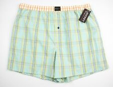 JOCKEY Coopers Collection Green Plaid Cotton Tailored Fit Boxer Shorts XL NWT!