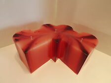 "Red streaks Wedding Heart Candle scented ,3 hearts, 3 wick 8 1/2' wide x 3"" tall"