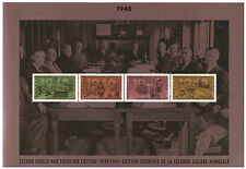 CANADA 1990 SECOND WORLD WAR SOUVENIR EDITION BLOCK OF 4 MNH & FIRST DAY COVER