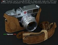 LUIGI's TENDERLY HALF CASE 4 LEICA M2-M3-M4-M6-M7-MP,FULLY LINED STRAP INCLUDED