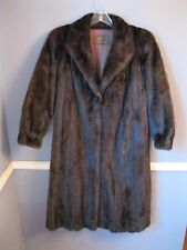 CLASSIC MINK fur coat Extra Large dark brown jacket