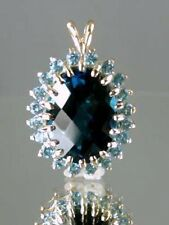 P270,, London Blue Topaz, 14KY Gold Pendant